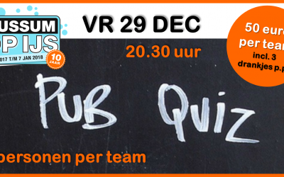 Pub Quiz 29 dec